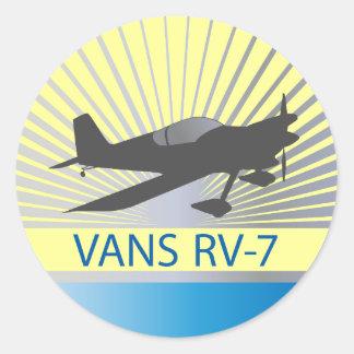 Aeroplano de las furgonetas RV-7 Pegatina Redonda