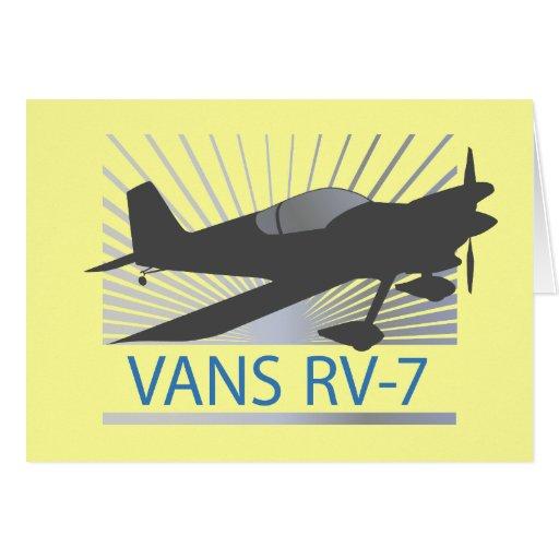Aeroplano de las furgonetas RV-7 Tarjeta De Felicitación