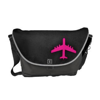Aeroplano de las rosas fuertes bolsas de mensajería