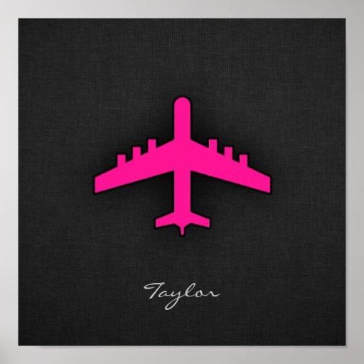 Aeroplano de las rosas fuertes impresiones