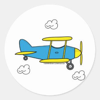 Aeroplano de Lil Pegatina Redonda