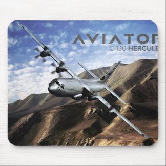 Aeroplano de los militares de C-130 HÉRCULES Tapete De Raton