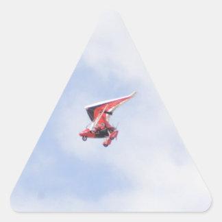 Aeroplano de Microlight Pegatina Triangular
