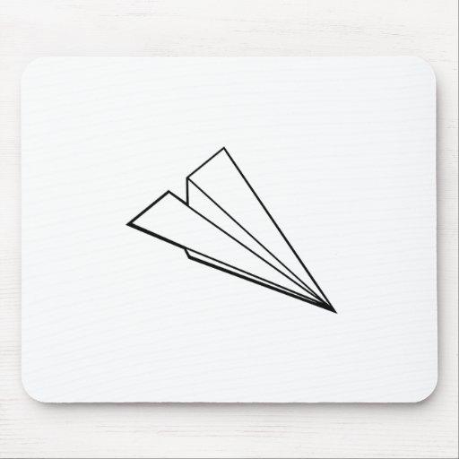 Aeroplano de papel alfombrilla de ratón