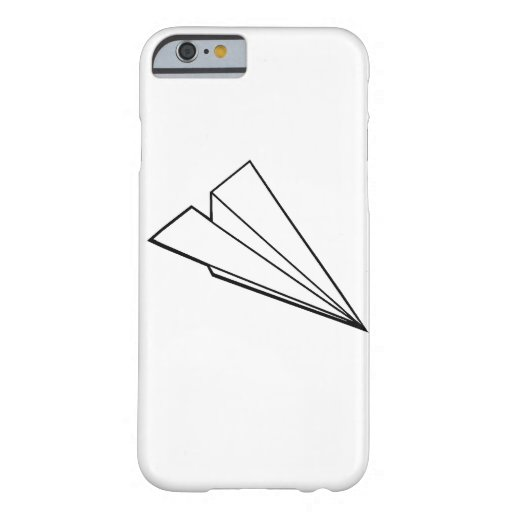 Aeroplano de papel funda de iPhone 6 barely there