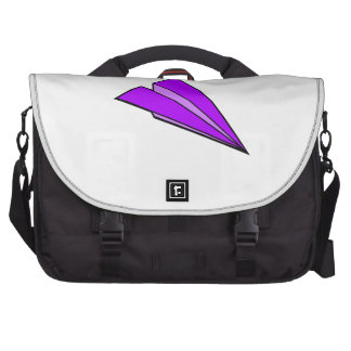 Aeroplano de papel púrpura bolsas de portatil