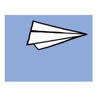 aeroplano de papel simple postales