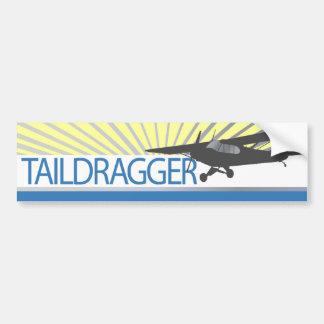 Aeroplano de Taildragger Pegatina De Parachoque