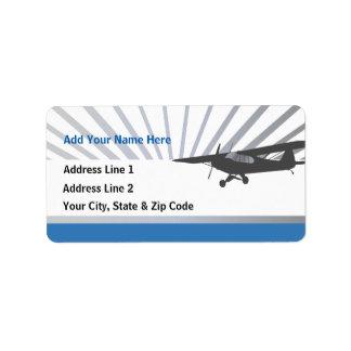 Aeroplano de Taildragger Etiqueta De Dirección
