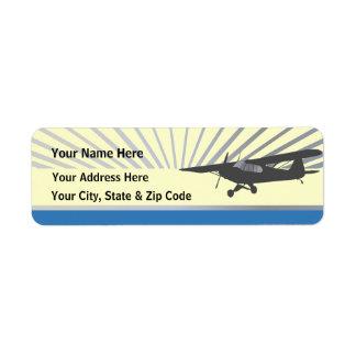 Aeroplano de Taildragger Etiquetas De Remite