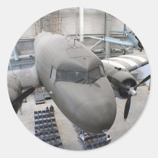 Aeroplano de WWII Pegatina Redonda