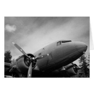 Aeroplano de WWII Tarjeta De Felicitación