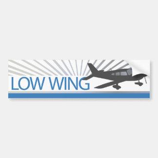 Aeroplano del ala baja pegatina de parachoque
