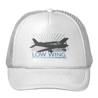 Aeroplano del ala baja gorras de camionero