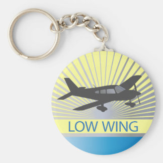Aeroplano del ala baja llaveros