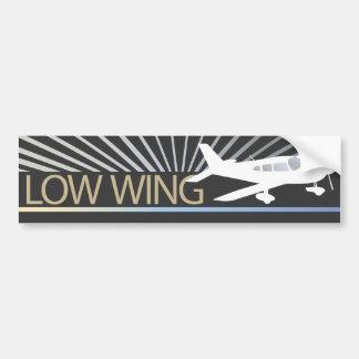 Aeroplano del ala baja pegatina para auto