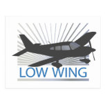 Aeroplano del ala baja postal