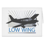 Aeroplano del ala baja tarjeta