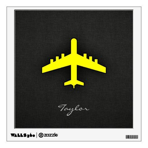 Aeroplano del amarillo amarillo