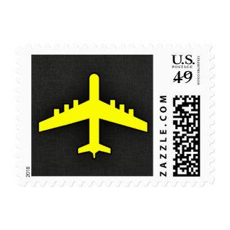 Aeroplano del amarillo amarillo sello