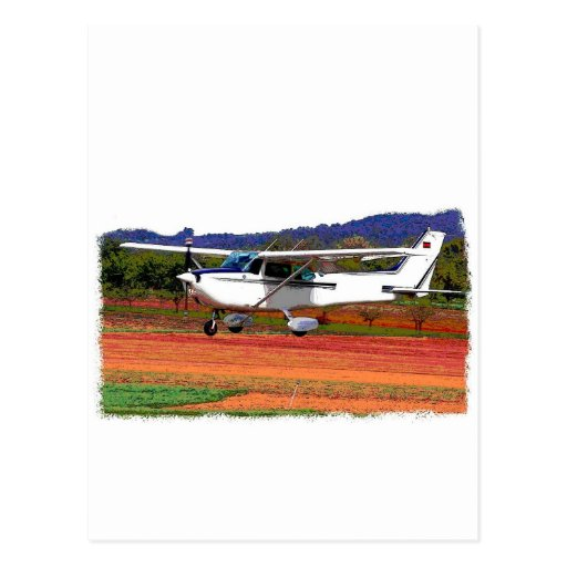 Aeroplano del aterrizaje tarjetas postales