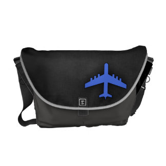 Aeroplano del azul real bolsas de mensajería