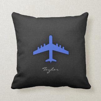 Aeroplano del azul real almohada