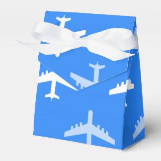 Aeroplano del azul y del blanco de cielo; Avión Cajas Para Regalos