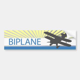 Aeroplano del biplano etiqueta de parachoque