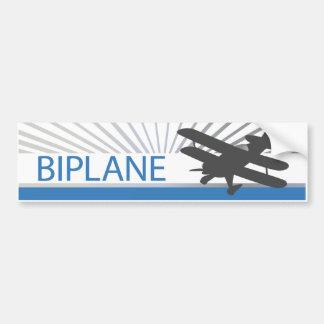 Aeroplano del biplano pegatina de parachoque