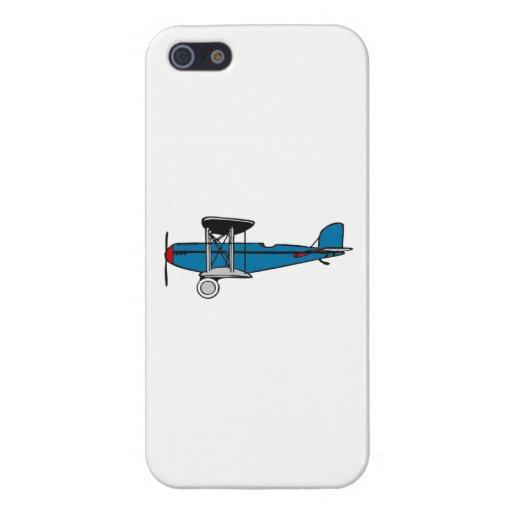Aeroplano del biplano iPhone 5 cárcasas