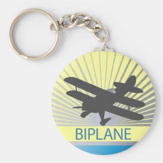 Aeroplano del biplano llaveros personalizados