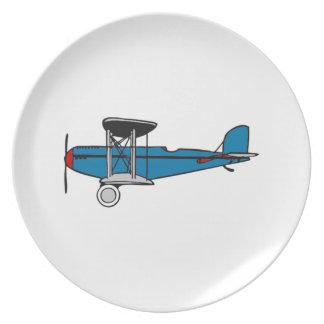 Aeroplano del biplano plato