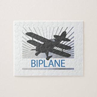 Aeroplano del biplano puzzle