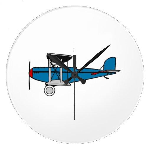 Aeroplano del biplano relojes