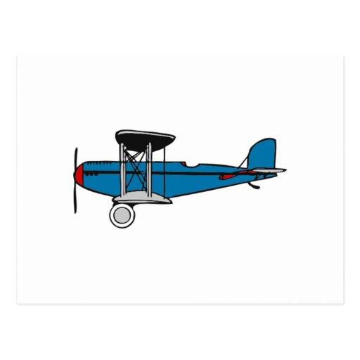 Aeroplano del biplano tarjetas postales