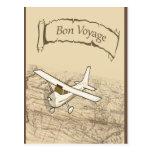 Aeroplano del buen viaje postal