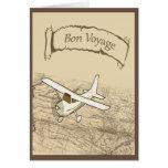 Aeroplano del buen viaje tarjeta de felicitación