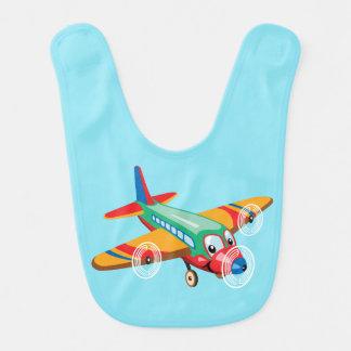 aeroplano del dibujo animado babero de bebé