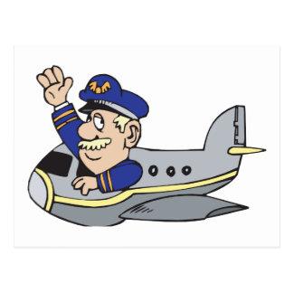 Aeroplano del dibujo animado postal