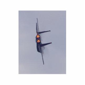 Aeroplano del jet fotoescultura vertical