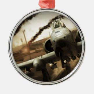 Aeroplano del rayo A-10 Adorno Navideño Redondo De Metal