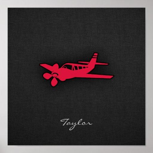 Aeroplano del rojo carmesí posters