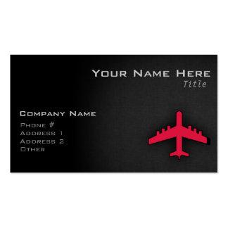 Aeroplano del rojo carmesí tarjetas de visita