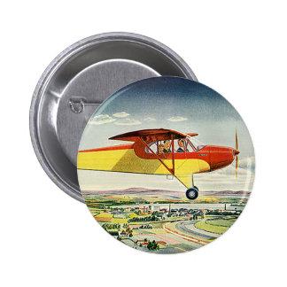 Aeroplano del transporte del vintage que vuela pin