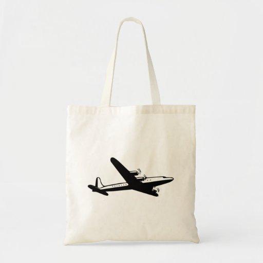 Aeroplano del vintage bolsa lienzo