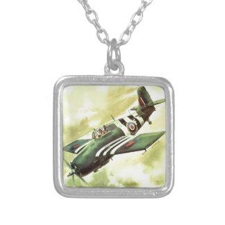 Aeroplano del vintage colgante cuadrado