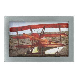 Aeroplano del vintage hebilla cinturón rectangular