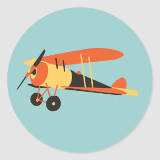 aeroplano del vintage, Nieuport 28, era de WWI Pegatina Redonda