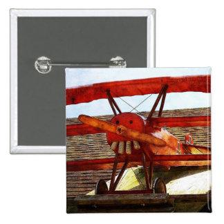 Aeroplano del vintage pin cuadrado